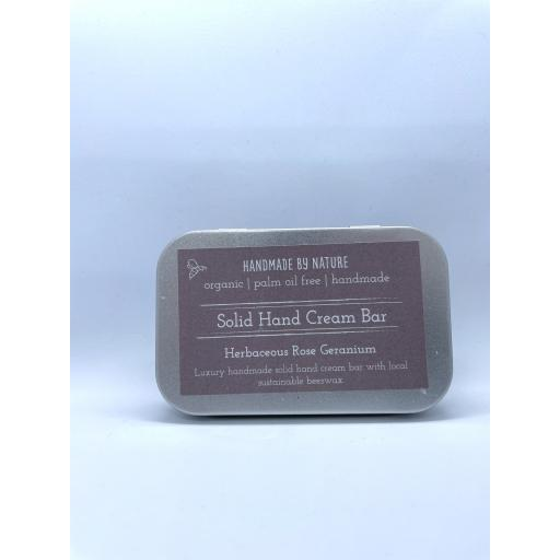 Handmade By Nature Solid Hand Cream Bar in Tin