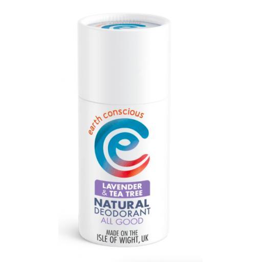 Earth Conscious Natural Deodorant in Cardboard Tube