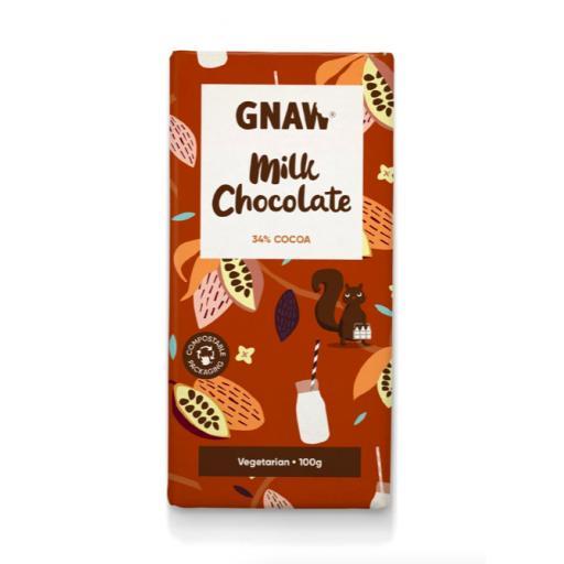 Gnaw Milk Chocolate 34% Cocoa Bar