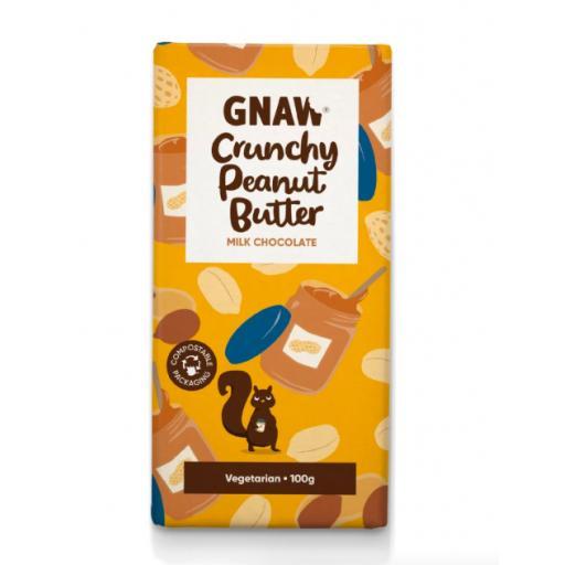 Gnaw Crunchy Peanut Butter Milk Chocolate Bar
