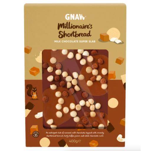 Gnaw Millionaire's Shortbread Milk Chocolate Super Slab
