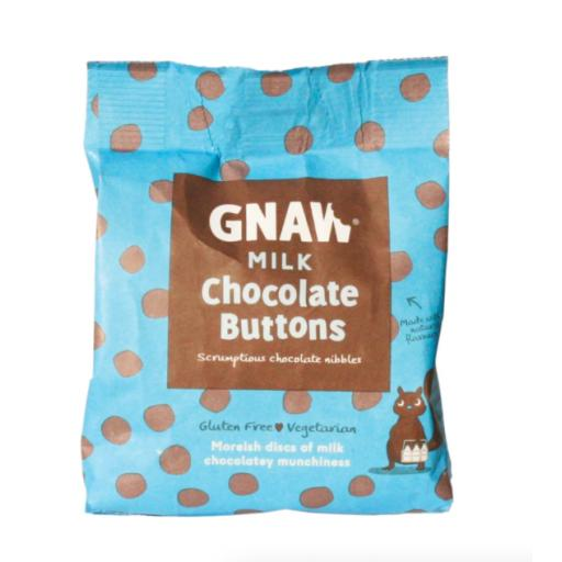 Gnaw Milk Chocolate Buttons in Compostable Packaging