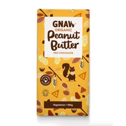 Gnaw Organic Peanut Butter Milk Chocolate Bar