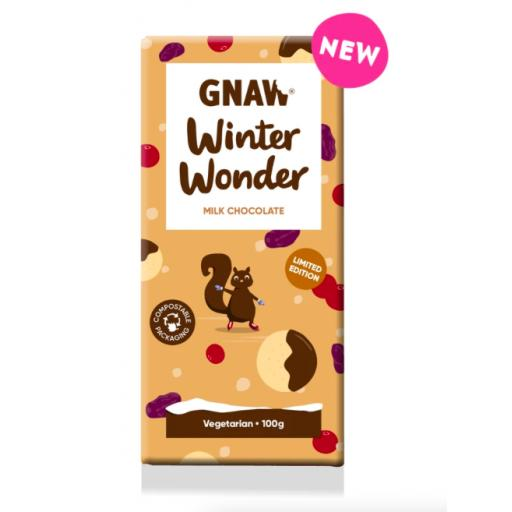 Gnaw Winter Wonderland Limited Edition Milk Chocolate Bar